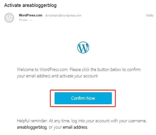 Cara Buat Blog di WordPress - Confirm Now