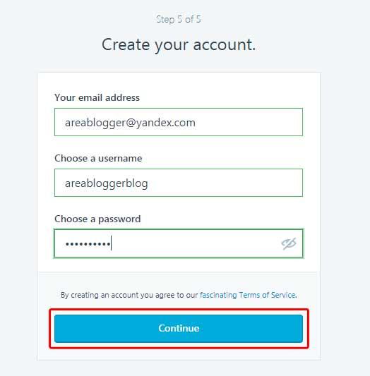 Cara Buat Blog di WordPress - Create your account