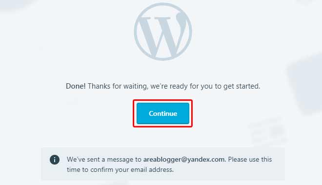 Cara Buat Blog di WordPress - Done