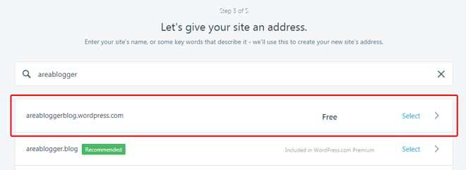 Cara Buat Blog di WordPress - Pilih Domain