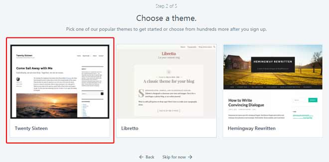 Cara Buat Blog di WordPress - Pilih Tema