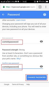 Ganti Password Gmail di Ponsel
