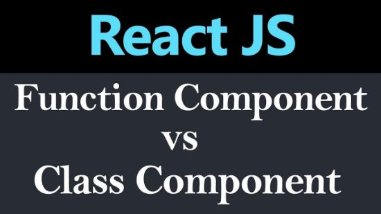 function vs class component